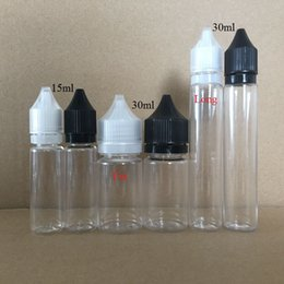 Wholesale fat pets - Gorilla Bottles 15ml 30ml Fat Long Style Plastic Dropper Bottle PET Unicorn Shape Bottle with Tamper Proof Childproof Caps DHL Free