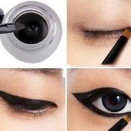 Wholesale New Arrival Eye Liners - Women's Beauty Makeup Cosmetic Waterproof Eye Liner Eyeliner Gel + Black Brush New Arrival