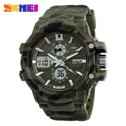 Wholesale Outdoor Christmas Displays - Men Dual Display Wristwatches Outdoor Military Sports Watches 50M Waterproof Watch 0990