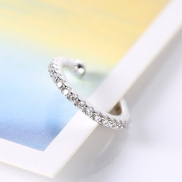 Wholesale Clip Earrings Wholesale Fashion - Fashion earrings S925 silver single ear clip no ear hole Jewelry earrings simply ear stud free shipping E500