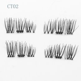 Wholesale Eye Lashes Extensions Glue - 9 Styles Magnetic Eyelashes 3D Mink Handmade Lashes no Glue Easy Remove False Eye Lashes Extension Super Natural Long Fake Eyelashes