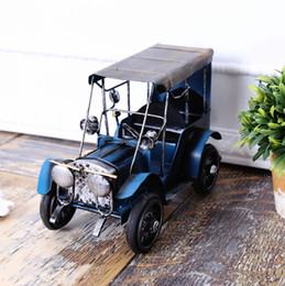 Wholesale Car Craft Models - Vintage tin model car home furnishing articles Nostalgic toys metal crafts 23*12cm