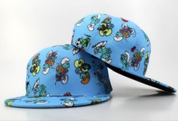Wholesale Hot Kids Shop - 2017 New brand Arrival The Smurfs kids Snapback hat hot sale cartoon cap Adjustable hat for children free size youth cap free shopping