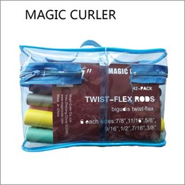 Wholesale roller foam curler - 7 Inch 42-pack Twist-flex Rods DIY Magic Curler Foam Sponge Hair Roller With PVC Bag Fashion Free Shipping.