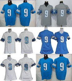 Wholesale Elite S - Factory Outlet Mens Womens Kids Toddlers DET 9 Matthew Stafford Blue Grey White Game Elite Best Quality Stitched Hot Sale Football Jerseys