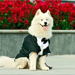 Wholesale Tuxedo For Year - Big Dog Clothes Large Dog Wedding Suit Tuxedo Garment Clothes For Bulldogs Dog Formal Party Suit Coat Jacket Costume Apparel