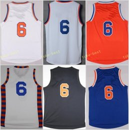 Wholesale Basketball Player Names - Top Sale 6 Kristaps Porzingis Uniforms Rev 30 New Material Jersey Shirt Team Color Blue White Orange Black Stitched With Player Name