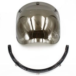 Wholesale Wholesale Motorcycle Visors - Wholesale- bubble visor top quality open face motorcycle helmet visor 4 color available vintage helmet windshield shield