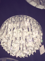 "Wholesale Crystal Marketing - 20""Manufacturers direct marketing round cake crystal lamp LED chip suction dome light warm living room living room lighting"