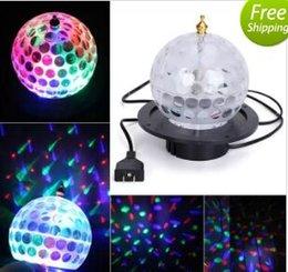 Wholesale Mini Rotating Ball Rgb - Mini Rotating Projector LED RGB Stage Light Crystal Magic Ball Effect Light Disco DJ KTV Party Stage Lighting(US&EU Plug) MYY