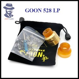 Wholesale Electronic Cigarette Airflow - GOON 528 LP RDA Rebuildable Dripping Atomizer 3 Colors Peek Insulator Adjustable Airflow Control Fit 510 Electronic Cigarette Mods DHL Free
