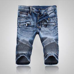 Wholesale Modern Men Shorts - New Fashion Mens Ripped Short Jeans Brand Clothing Bermuda Summer 98% Cotton Shorts Breathable Denim Shorts Male JS-010