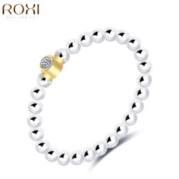 Wholesale Wholesale Womens Diamond Rings - ROXI 925 sterling silver jewelry Band Ring Jewelry CZ Diamond Crystal Zirconia Luxury Womens Wedding Bridal Party Rings bague
