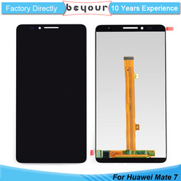 Wholesale Huawei Ascend Mate Black - LCD Display Touch Screen Digitizer Assembly for Huawei Ascend Mate 7 AAA Grade Black White Gold