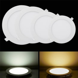 Wholesale Recessed Power - 6W 9W 12W 15W 18W Led Ceiling Lights Recessed Downlights 85-265V Ultrathin Led Panel Lights With Power Supply Cool white Warm White
