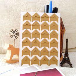 Wholesale Photo Corner Stickers - DIY Vintage Corner Kraft Paper Stickers Photo Albums Decoration Scrapbooking