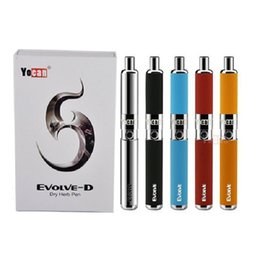 Wholesale D Ego Battery - 100% Original Yocan Evolve-D Starter Kit dry herb Vaporizer pen with 650mAh Battery Pancake Dual Coils ego 510 thread atomizer Evolve Plus