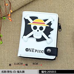 Wholesale One Piece Coin Purse - Wholesale- new style Leather Men Short Bifold Tokyo Ghou Wallet Fairy Tail One piece Wallets Purse Coin Pocket Male Zipper Purse