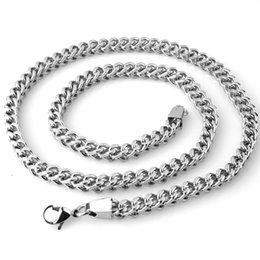 """Wholesale Stainless Steel Curb Necklace - 18-36"""" 6mm Newest 316L Stainless Steel Silver Fashion Jewelry Curb Cuban Chain Mens Womens Necklace Hot Gift"""