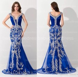 Wholesale Celebrity Slim Prom Dresses - Real Photo Luxury Mermaid Slim Evening Dresses Hand Made Major Beaded Crystals Long Formal Ceremony Celebrity Party Gowns