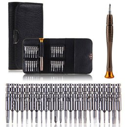 Wholesale 25 in Repair Opening Tool Kit Pins Torx Phillips Mini Screwdriver Set for IPhone S S Samsung HTC Nokia Blackberry