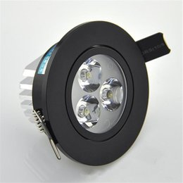 Wholesale Black Led Downlight - 2016 New Cree Led down lights dimmable LED recessed downlight black 3w 5w 7w Led Ceiling spotlight nature warm cool white SAA UL