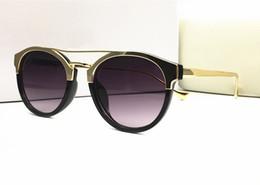 Wholesale Italian Fashion Designer - Italian brand designer sunglasses men women retro vintage medusa UV400 lens gold plated frames eyewear with original case summer style