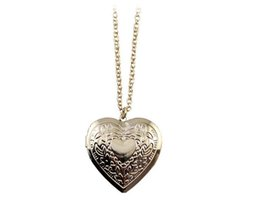 Wholesale 14k Gold Heart Locket - New Fashion Love Heart Pendant Necklace Heart Lockets Necklace Vintage Long Sweater Necklace Gold Colors High Quality Hot