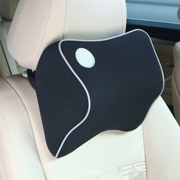 Wholesale Car Seat Head Rest Pillow - Hot Car Seat Headrest Pad Memory Foam Travel Pillow Head Neck Rest Support Cushion Free Shipping