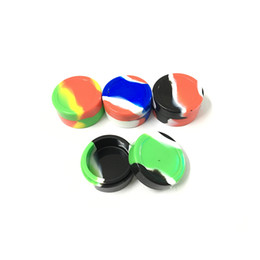 Wholesale Rubber Slicker - Food Grade Silicone Nonstick Container Jar 5 Pieces Dabber Wax Tool Oil Slicks Container 22 Ml Screw Top