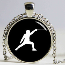 Wholesale Sport Necklaces China - 2017newest design sports jewelry boxing necklace black white minimalist boxing glove pattern glass alloy pendant