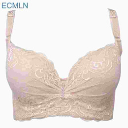 Wholesale Thin Gather Adjustable Bra - Thin plus size bra cup adjustable push up side gathering furu mm Large c cup e cup women's underwear 2017