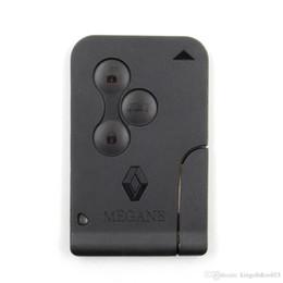 Wholesale Megane Button Key - Renault Megane smart Card 3 button Remote Key 433MHZ With ID46 Chip Megane Remote Key