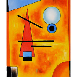 Wholesale Cool Canvas Art - Modern abstract art Wassily Kandinsky oil paintings Canvas Cool hand-painted wall decor
