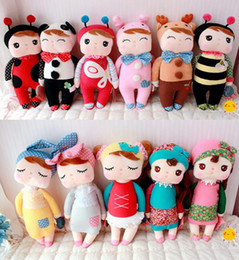 Wholesale Angela Dolls - Kawaii metoo angela dolls cute bunny rabbit plush toys for girl birthday gift children soft stuffed animal toys baby kids comforting doll