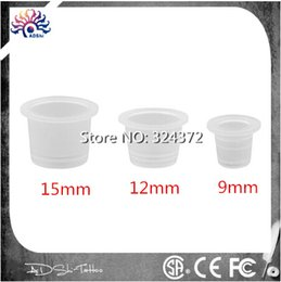 Wholesale Wholesale Large Plastic Containers - Wholesale-100 piece per lot 15MM Disposable large Pigment Container Plastic Holder Tattoo Accessories Supplies For Body Art Ink Cup