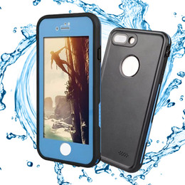 Wholesale Pink Body Protector - Waterproof Case XLF Full Body Screen Protector Soft TPU Gel Front Back Cove For iPhone 7 plus with retail package