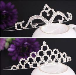 Wholesale High Shine Rhinestones - High Quality Shining Crystals Wedding Crowns Bridal Tiara Crown Headband Hair Accessories Party Wedding accessories free shipping