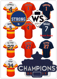 Wholesale Black Baseballs - Stitched Men's 34 Nolan Ryan 5 Jeff Bagwell 27 Jose Altuve 4 Springer 1 Correa Baseball Jerseys Throwback Cool Base Player Jersey
