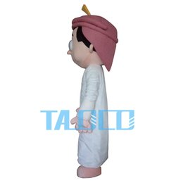Wholesale Music Boy Mascot - Arab boy Mascot Costume Adult Size Fancy Dress Party for festival Free Ship