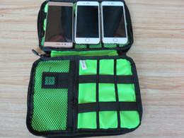 Wholesale Trunk Usb - Portable Organizer System Kit Case Storage Bag Digital Gadget Devices USB Cable Earphone Pen Travel Insert A429