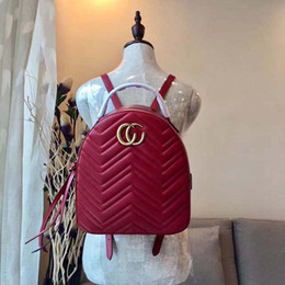 Wholesale Satchels Hand Bags - Women Fashion Backpack Woman Bags Genuine Leather brand High quality hand-made size 22*26*11 cm model 160356157