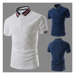 Wholesale Design Polo T Shirts - Polo T-shirt Fashion Design Men's Sports Lapel Short-Sleeves Summer Breathable Golf Polo T-shirts US Size:XS-L