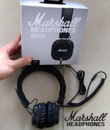 Wholesale Professional Phones - Marshall Major II 2nd Headphones Headset Deep Bass Studio Hi-Fi Earphones 3.5mm Professional DJ Monitor With Mic Noise Cancelling