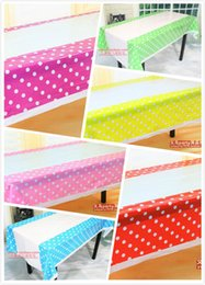 Wholesale Plastic Tablecover - Wholesale-Lovely 108cm disposable Birthday tablecloth Cartoon kids happy birthday party plastic tablecover supplies