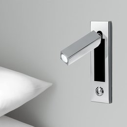 Wholesale Dimmer Wall - Free delivery Up-to-date Recessed LED Wall Lights 3W Chrome finish AC100-240V DC12V Touch dimmer Head Swivels 90degree Left Right Forward