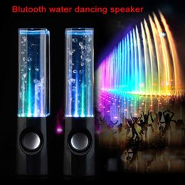 Wholesale Led Water Drop Speaker - Dancing Water Speaker Music Audio 3.5MM Player for iphone samsung LED 2 in 1 USB mini Colorful Water-drop Show for tablet PSP phone DHL FREE