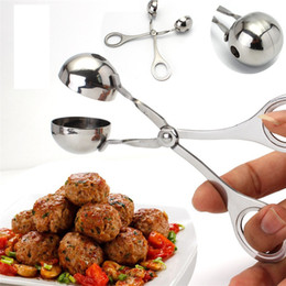 for pill press Desconto Novo Prático Conveniente Pequeno meatball clipe de aço Inoxidável DIY fabricante de almôndega Kitchen food clip IA641