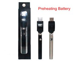 Wholesale Slim Batteries - Preheating Battery Button Adjustable Variable Voltage O-pen BUD 350mAh Vapor pen 510 thread for slim atomizer CE3 G2 Glass tank shipping