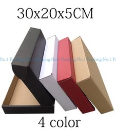 Wholesale Wholesale Black Kraft Paper Boxes - Wholesale- 50pcs 30cm*20cm*5cm red black brown claret logo printing kraft paper custom gift packaging box,corrugated paper packing boxes